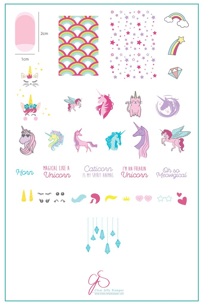 #AlwaysBeAUnicorn (CjS LC-51) - Clear Jelly Stamping Plate