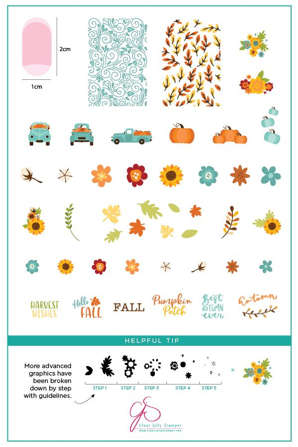 Pumpkin Patch (CjS LC-57)  - Clear Jelly Stamping Plate