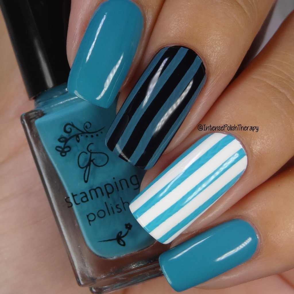 #85 Teal me off the Ceiling Stamping Polish