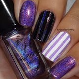 Holo Purple Stamping Polish #H07