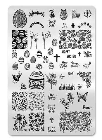 Yay Spring -  Uber Chic Stamping Plate
