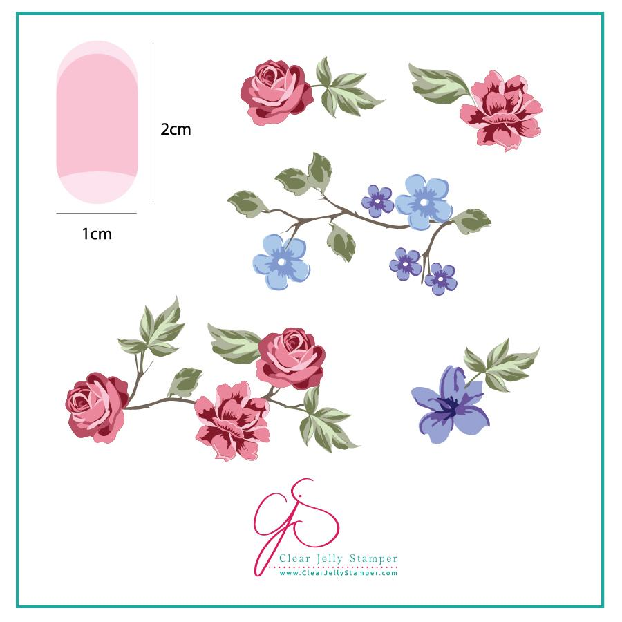Renaissance Rose (CJS-05) - CJS Small Stamping Plate