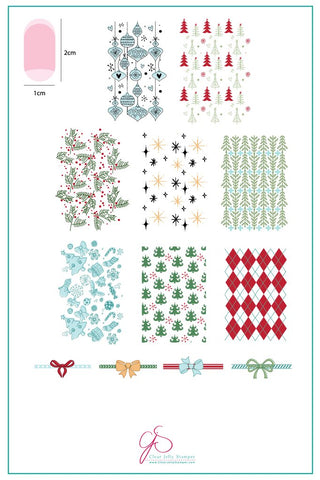 Pretty Paper - Classic (CjS C-25) - Clear Jelly Stamping Plate