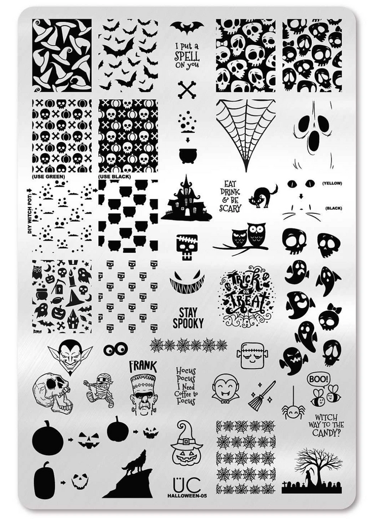 Halloween Weekend 2020 Uber Uber Chic Stamping Plates Alphabet   Special Edition – LuvNailz