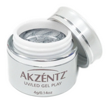Glitter Platinum Quartz - Akzentz Gel Play UV/LED
