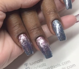 Blue Tanzanite Glitz Glitter Gel - Akzentz Gel Play UV/LED