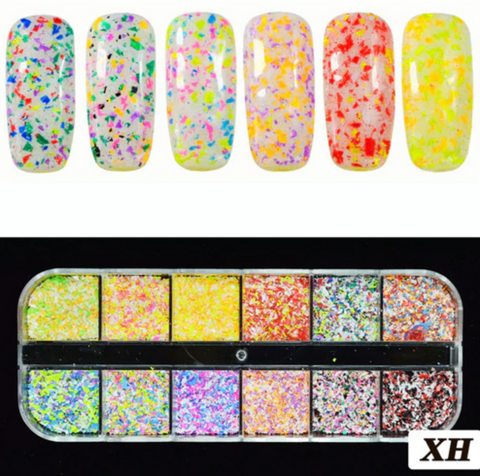 Glitter Kit Sets with 12 Different Glitters - Confetti XH