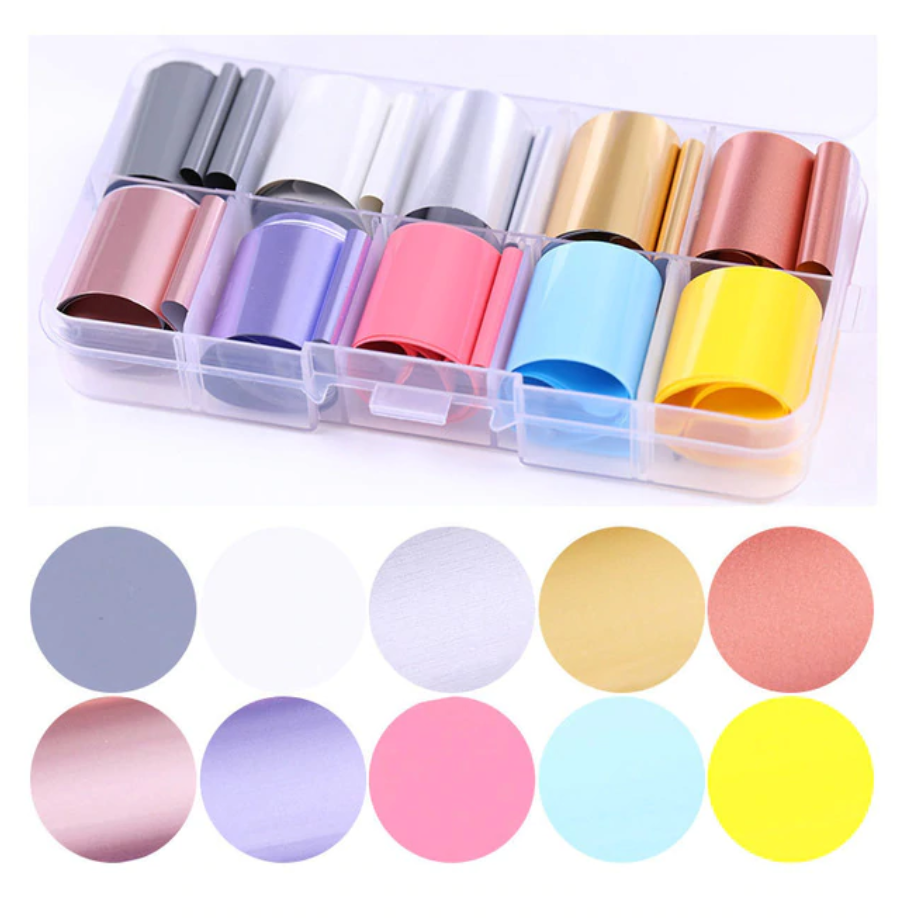 Pastels Set of 10 Foils in Case