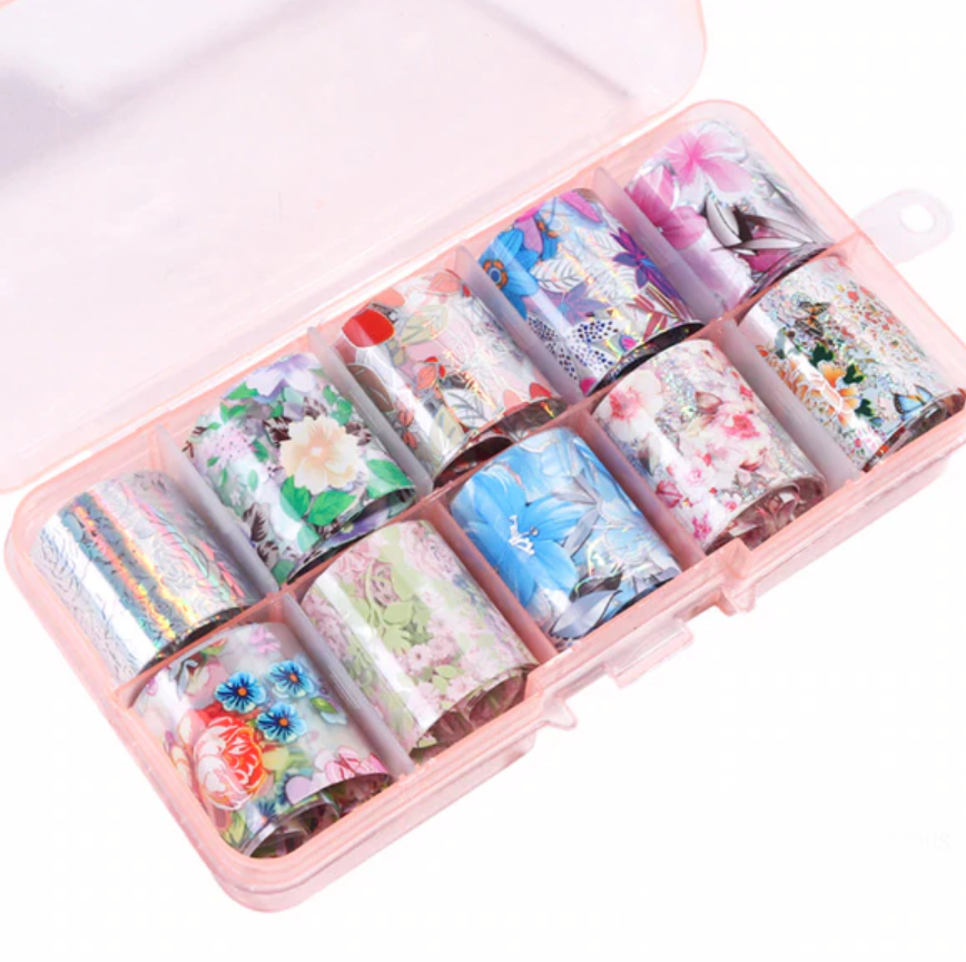 Summer Floral Foil Set of 10 in Case