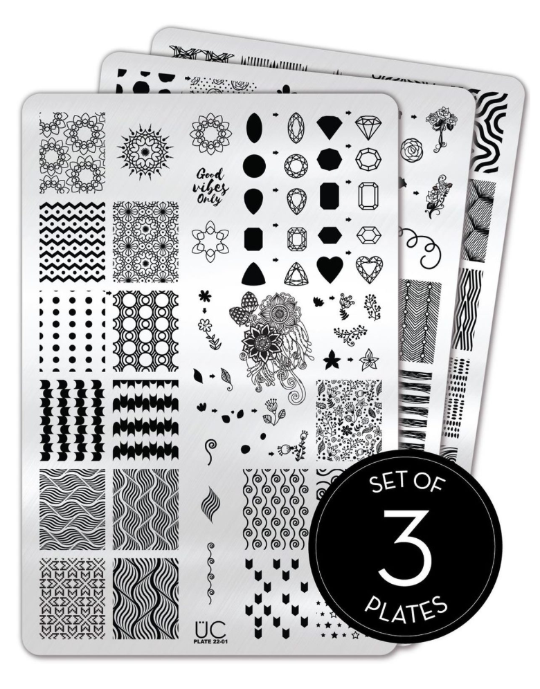 Collection 22 - Set of 3 Uber Chic Stamping Plates