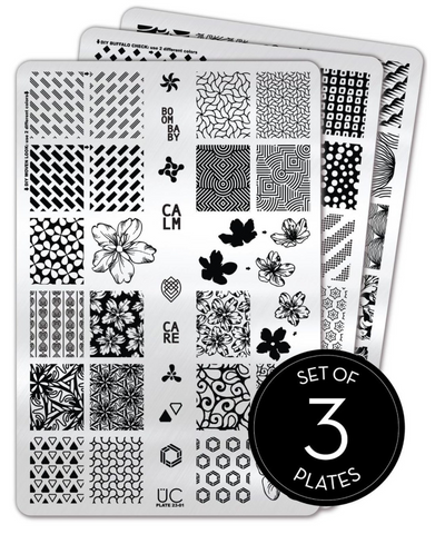 Collection 23 - Set of 3 Uber Chic Stamping Plates