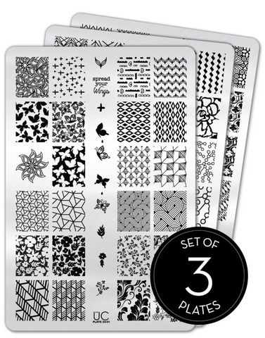 Collection 24 - Set of 3 Uber Chic Stamping Plates