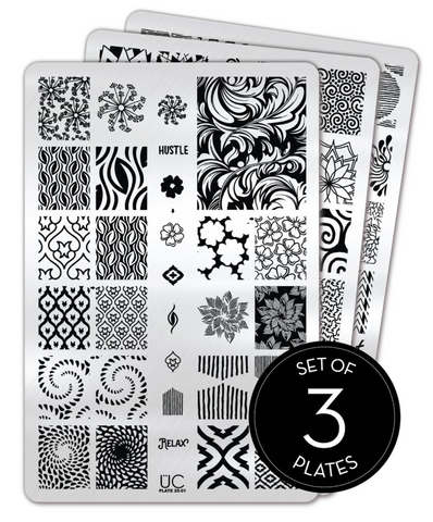 Collection 25 - Set of 3 Uber Chic Stamping Plates