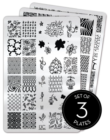 Collection 26 - Set of 3 Uber Chic Stamping Plates