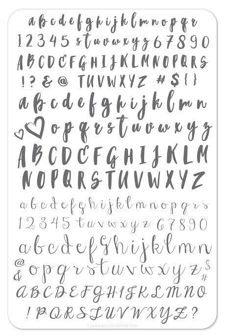 Alphabet Brush (CJS-40) - Clear Jelly Stamping Plate