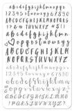 Alphabet Brush - Clear Jelly Stamping Plate