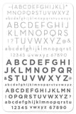 Alphabet Modern (CJS-42) - Clear Jelly Stamping Plate