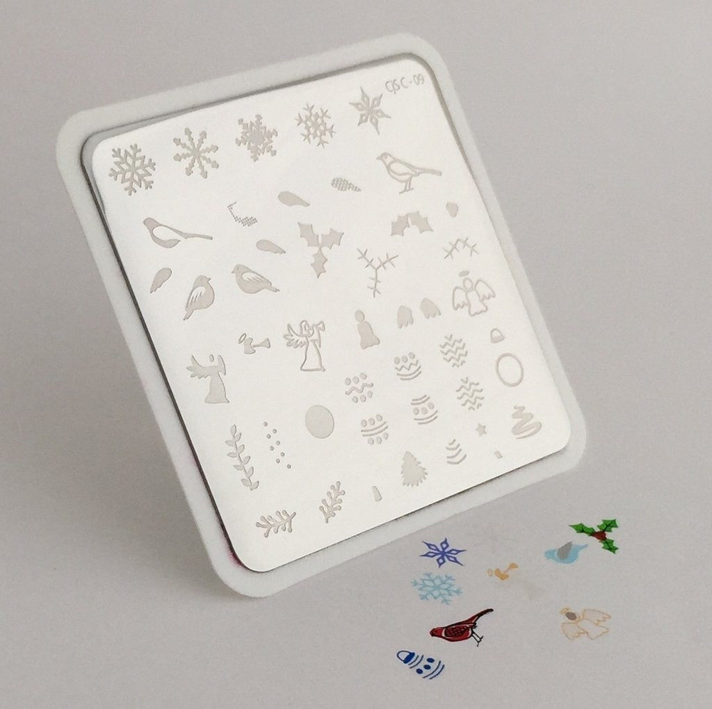 Angelic Christmas Wonderland (CjS-C09) - CJS Small Stamping Plate