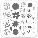 Petals on Point (CjS-65) - CJS Small Stamping Plate