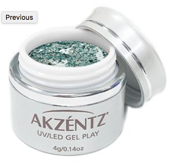 Green Peridot Glitz Glitter - Akzentz Gel Play UV/LED
