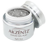 White Gold Leaf Glitz Glitter Gel - Akzentz Gel Play UV/LED