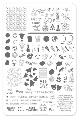 Back to School - Scholastic - Clear Jelly Stamping Plate