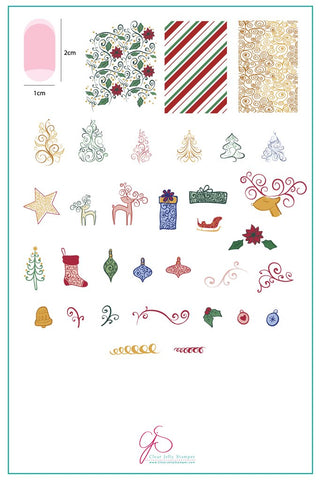 Baubles & Bells (CjS C-21)  - Clear Jelly Stamping Plate