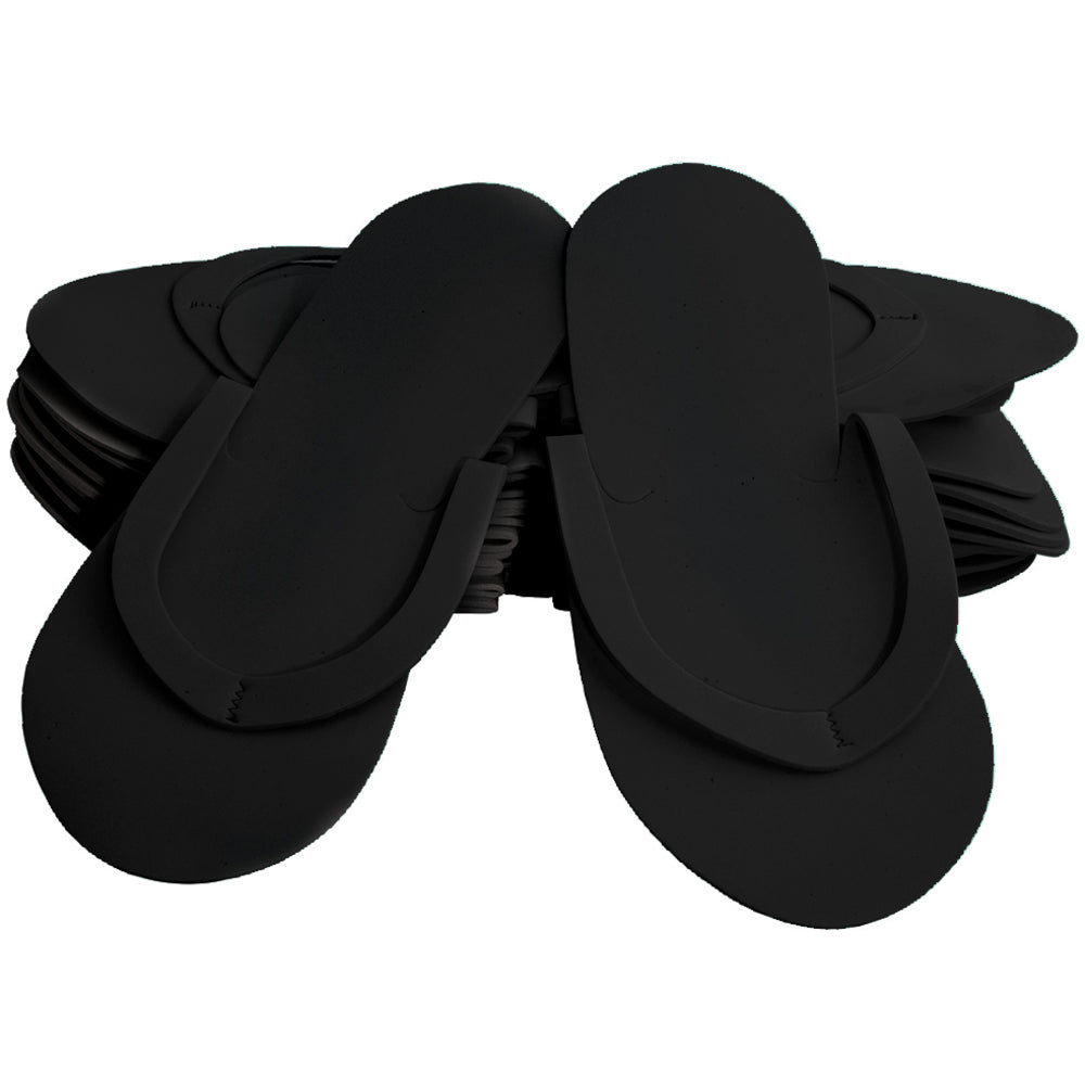 Disposable Foam Slippers - Pack of 12