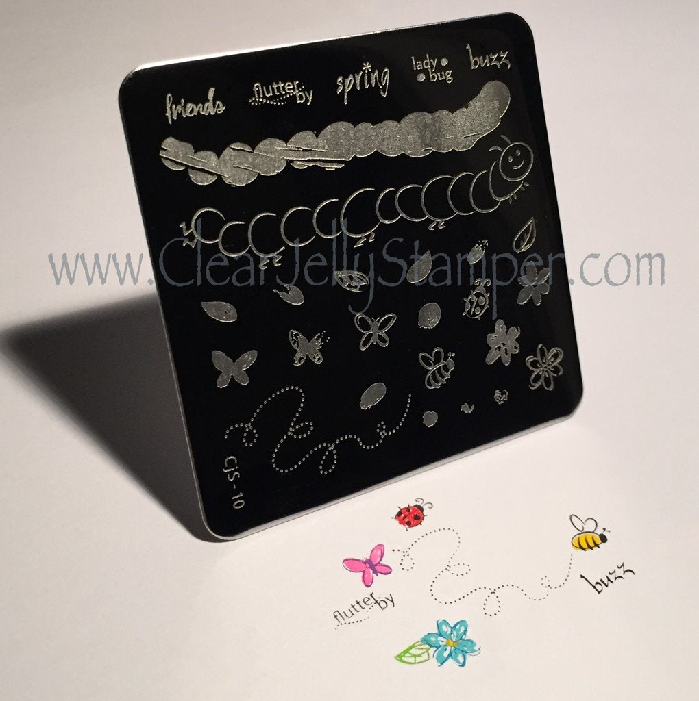 Baby Bugs and Bees (CjS-10) - CJS Small Stamping Plate