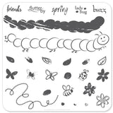 Baby Bugs and Bees - CJS Small Stamping Plate