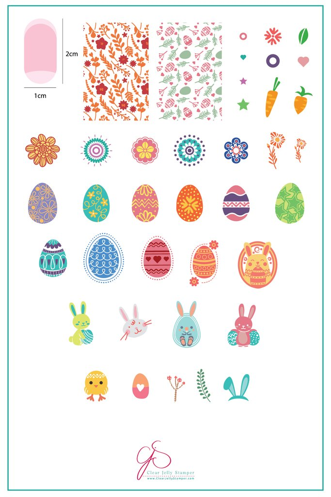 Bunny Kinz (CjSH-11)  - Clear Jelly Stamping Plate