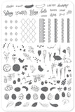 Bunny Kisses (CjSH-29)  - Clear Jelly Stamping Plate