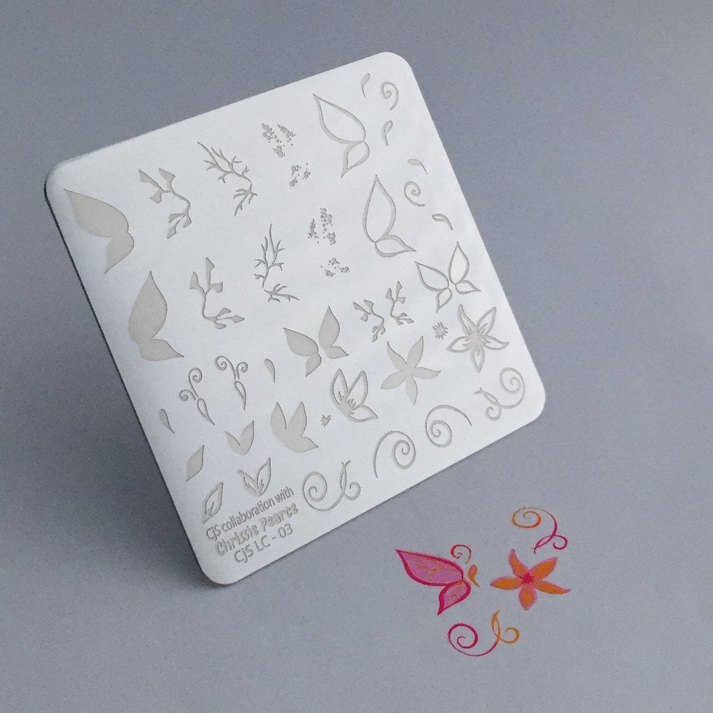 Chrissie Pearce's Butterfly (CjSLC-03) - CJS Small Stamping Plate
