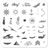 By the Sea (CjS-6) - CJS Small Stamping Plate