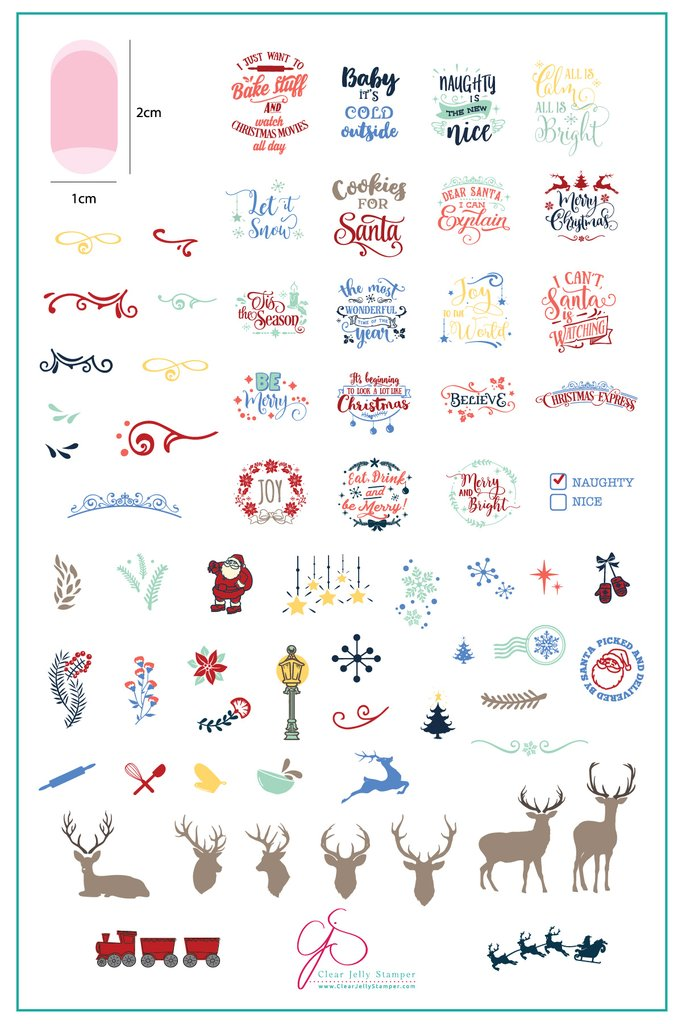 Christmas Express  (CjS C-29)  - Clear Jelly Stamping Plate