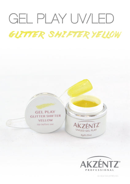 Glitter Shifter Yellow - Akzentz Gel Play UV/LED