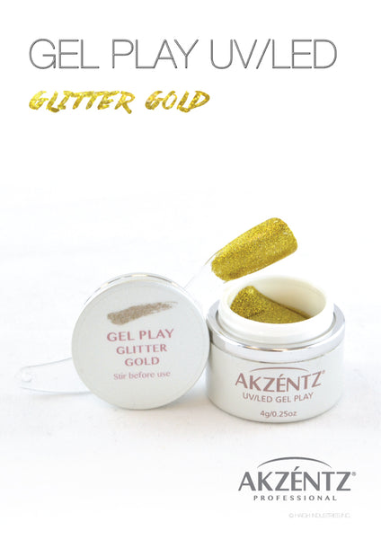 Glitter Gold - Akzentz Gel Play UV/LED