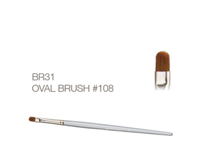 Oval Gel Brush #108 - Akzentz Brush