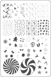 Pretty Paper - Candied (CjS C-27)  - Clear Jelly Stamping Plate