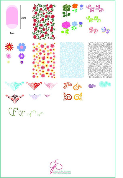 Chantel's Finishing Touches (CjS LC-38) - Clear Jelly Stamping Plate