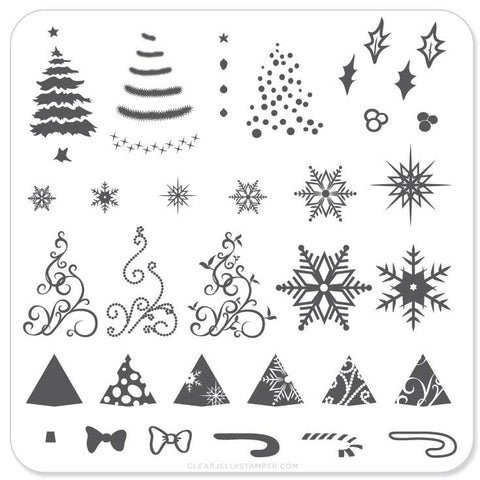 Christmas Tree - CJS Small Stamping Plate