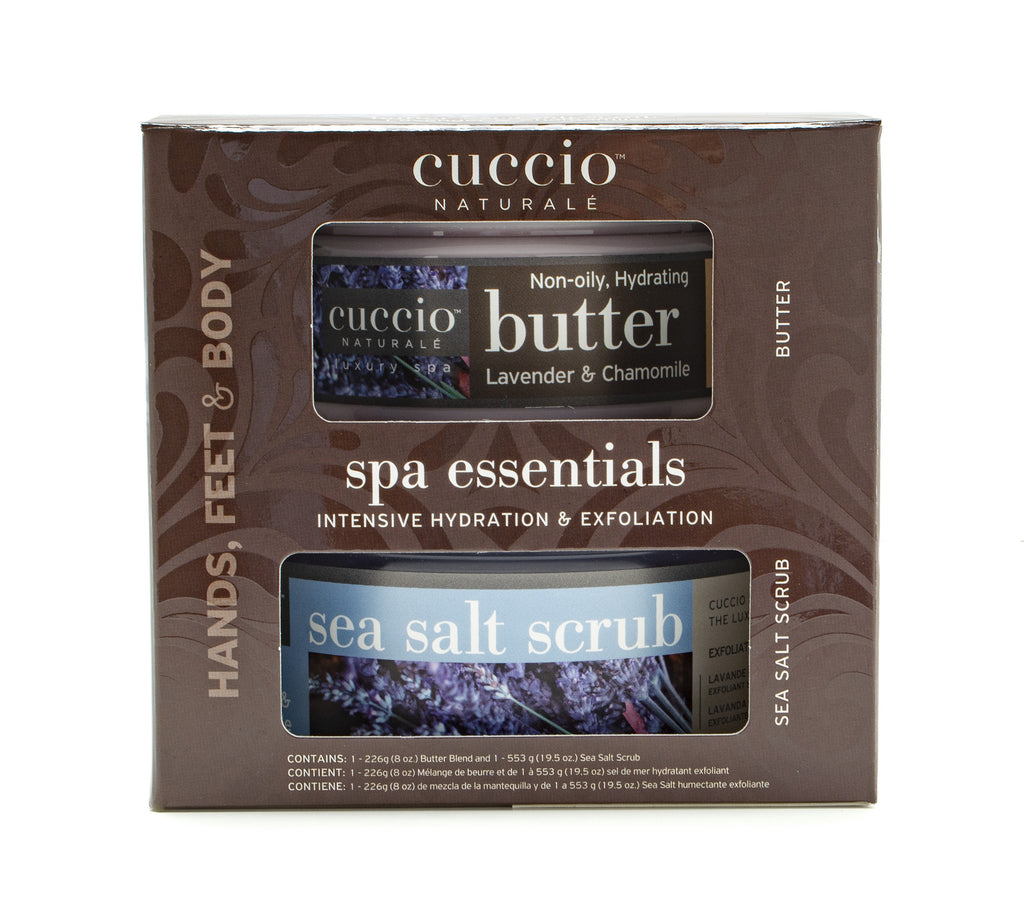Spa Essentials Kit: Butter & Scrub - Lavender & Chamomile