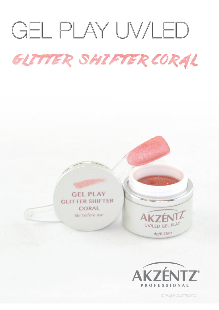 Glitter Shifter Coral - Akzentz Gel Play UV/LED