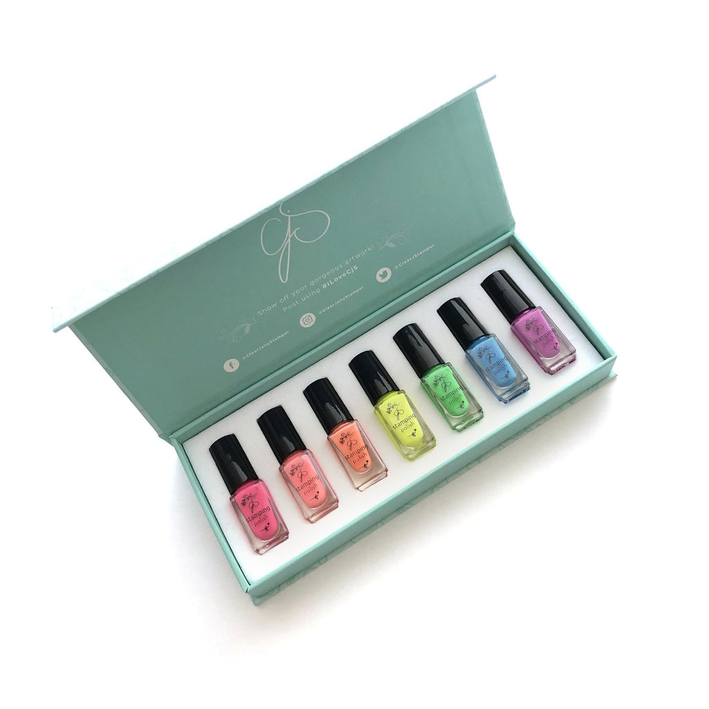 Neon Stamping Polish Kit (7 Colors)