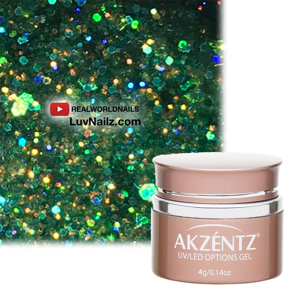 Emerald Aurora Glitter - Akzentz Options UV/LED