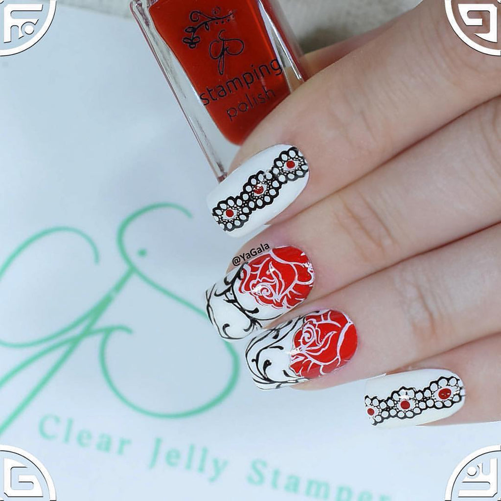 Dark Eyes (CjS LC-32)  - Clear Jelly Stamping Plate