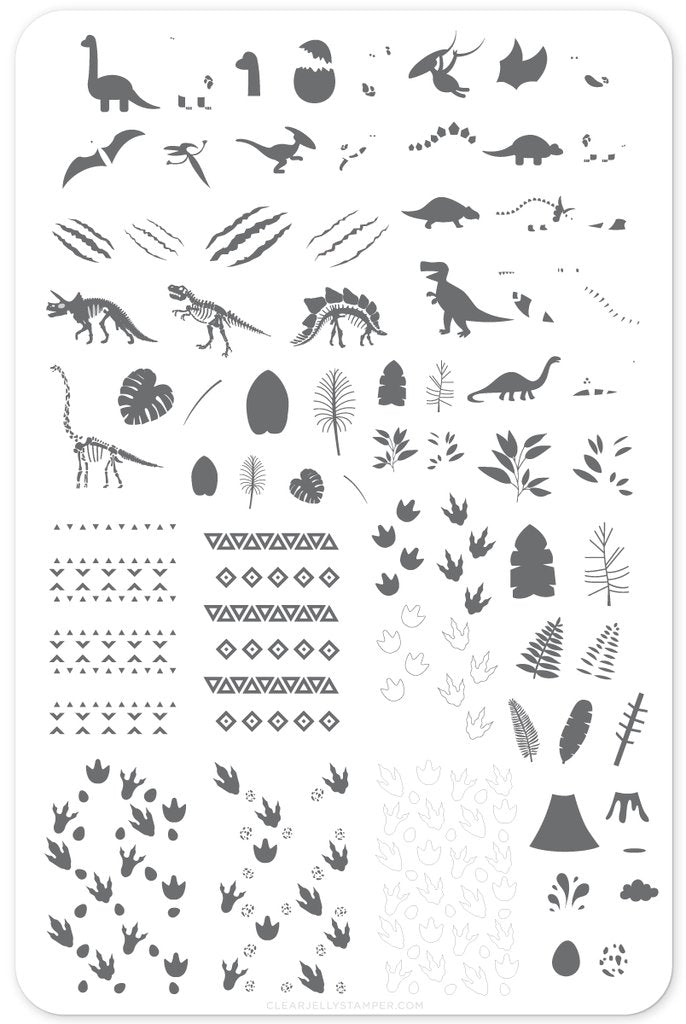 Dino Friends (CjS LC-35)- Clear Jelly Stamping Plate