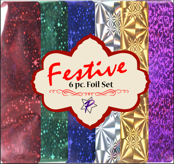 Festive Holiday Foil Set of 5