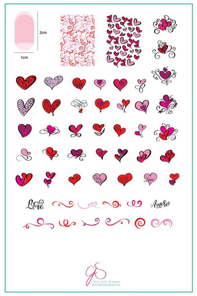 Flirty Flourish (CjS V-11) - Clear Jelly Stamping Plate