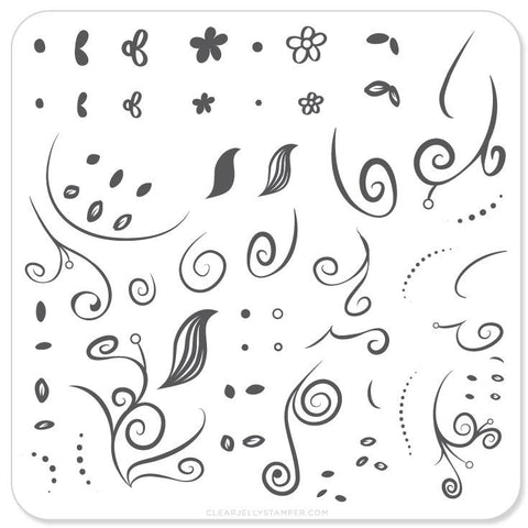 Floral Swirl 1 - CJS Small Stamping Plate